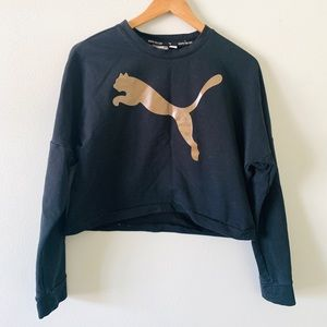 PUMA black cropped sweatshirt size small